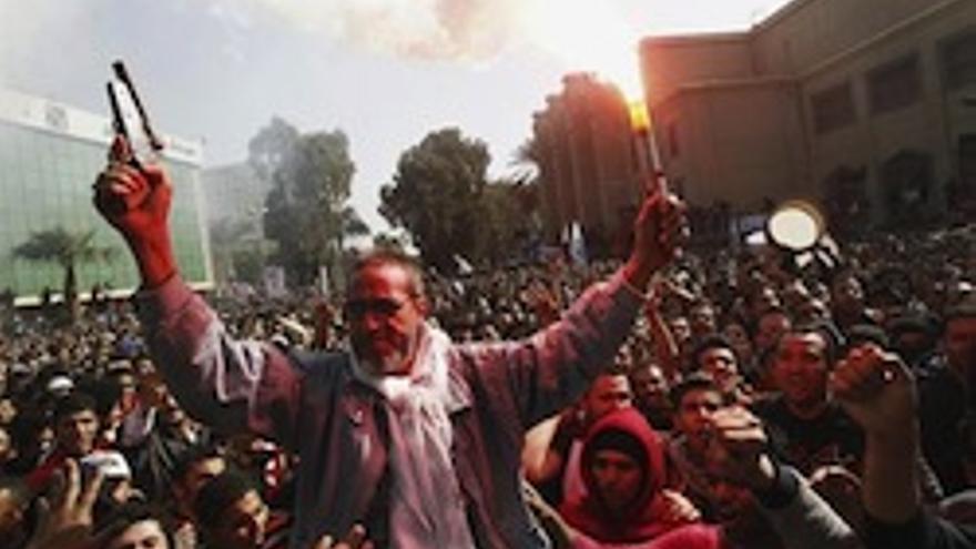 Imagen de las protestas en Egipto.