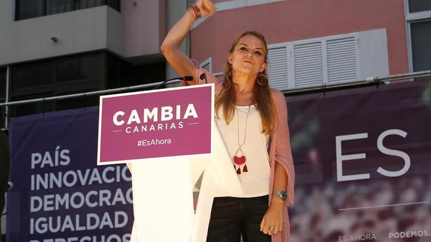 Noemí Santana, candidata de Podemos a la Presidencia del Gobierno de Canarias. (ALEJANDRO RAMOS)