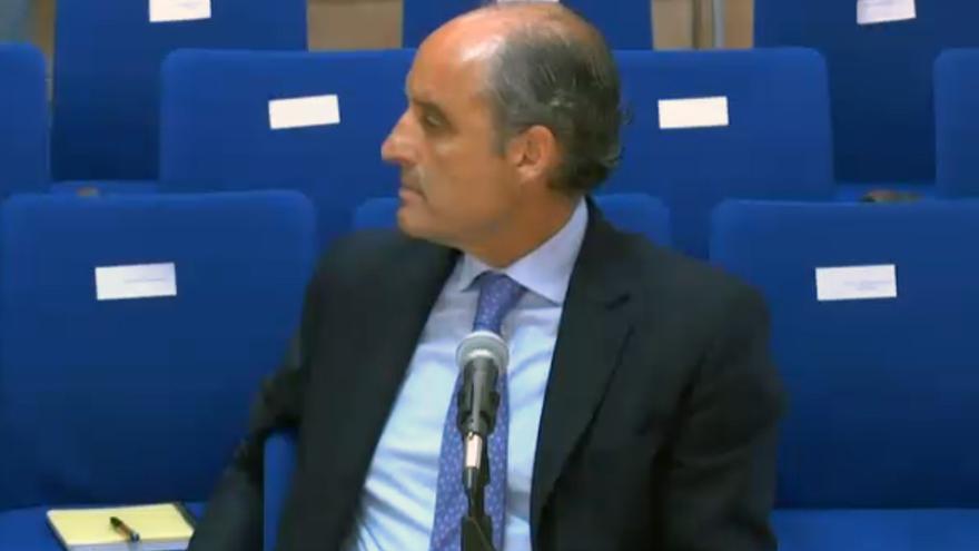 El expresident de la Generalitat Francisco Camps durante su declaración como testigo en Nóos