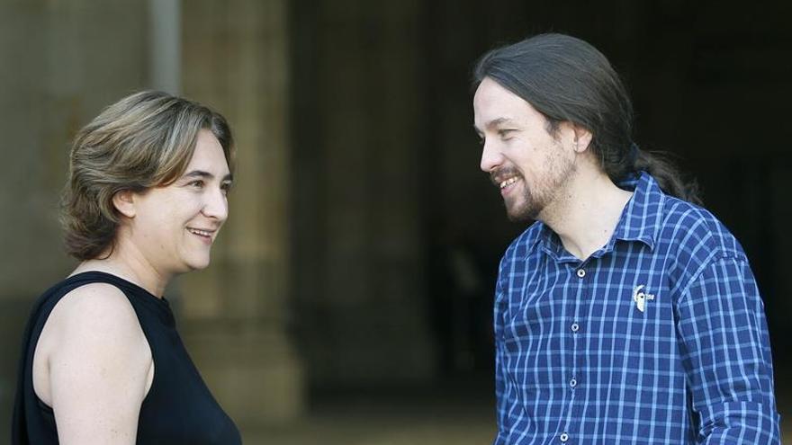 """Iglesias y Colau preparan un acto en la Diada por la """"soberanía de Cataluña"""""""