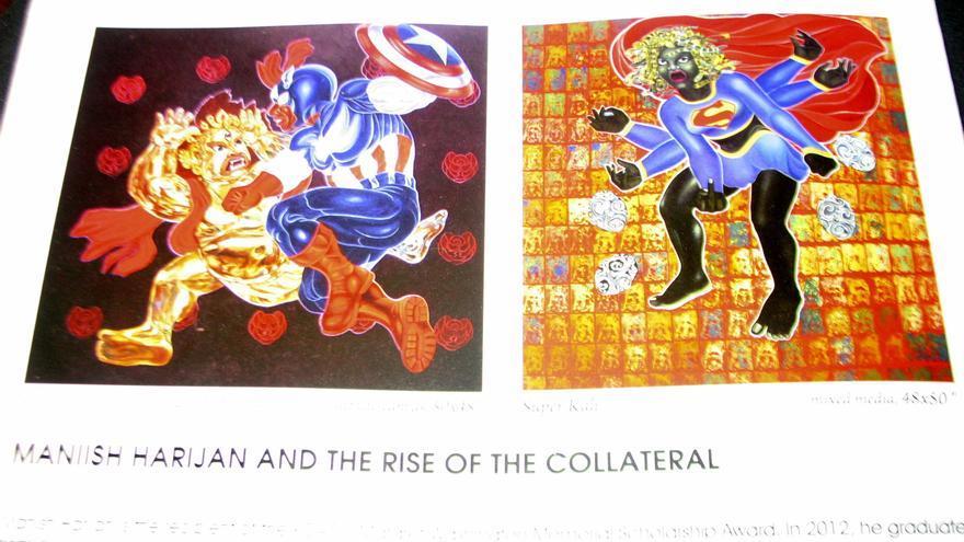 Sellan galería de arte en Nepal por presentar dioses hindúes como superhéroes
