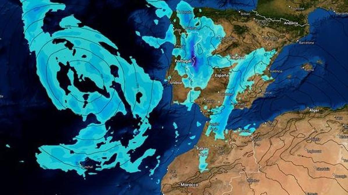 Paso de una borrasca atlántica por la península y Canarias