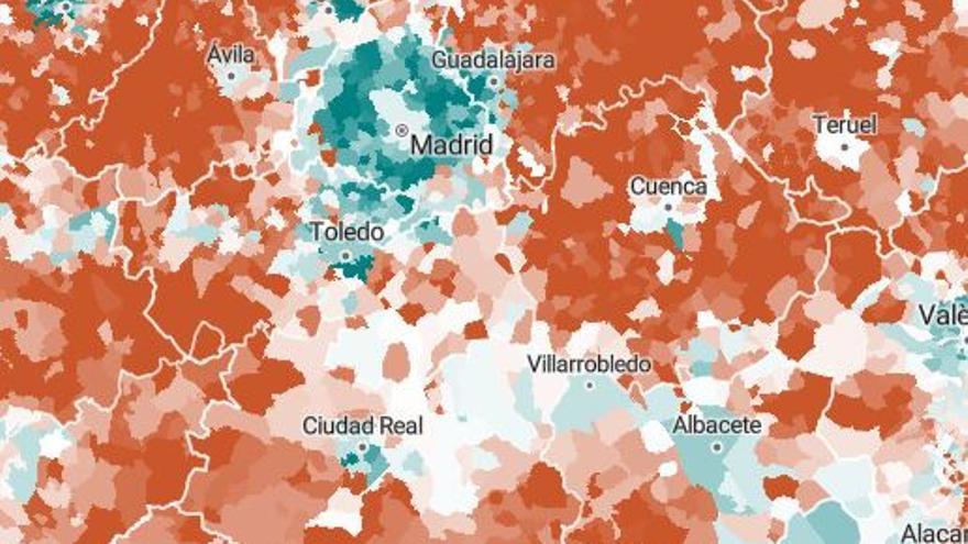 Mapa municipios ine