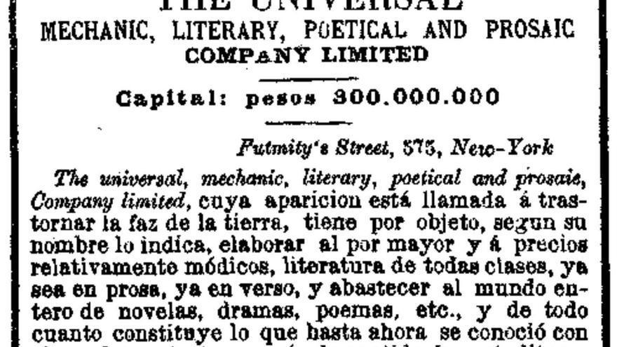 Fragmento del texto del marqués de Valero de Urría publicado en el periódico 'El Día' el 26 de mayo de 1892