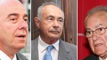 Miguel Zerolo, Antonio Plasencia e Ignacio González, tres de los condenados por el caso Las Teresitas
