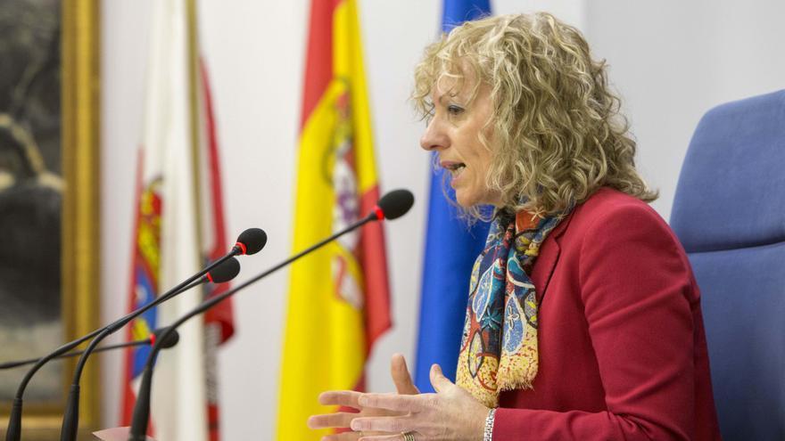 Eva Díaz Tezanos, en rueda de prensa.   M.A. LÓPEZ