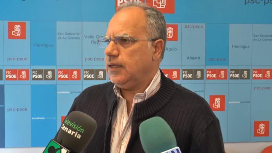 El secretario insular del PSC-PSOE Casimiro Curbelo