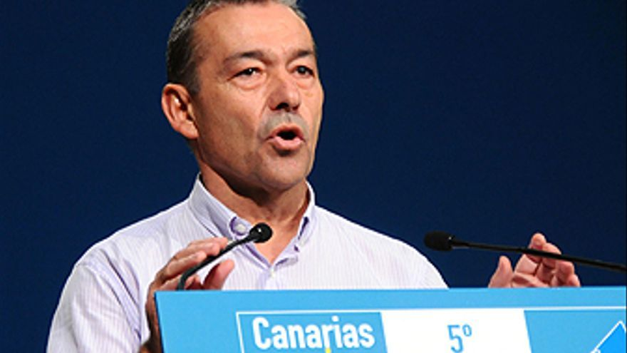 Paulino Rivero, durante el Congreso. (ACFI PRESS)