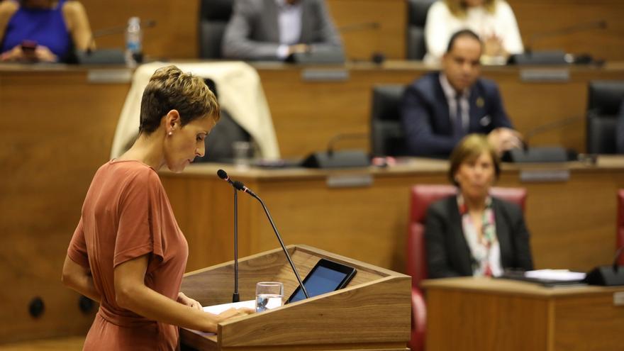 """Geroa Bai, Podemos e I-E, """"satisfechos"""" con el discurso de Chivite y su """"defensa"""" del acuerdo programático"""