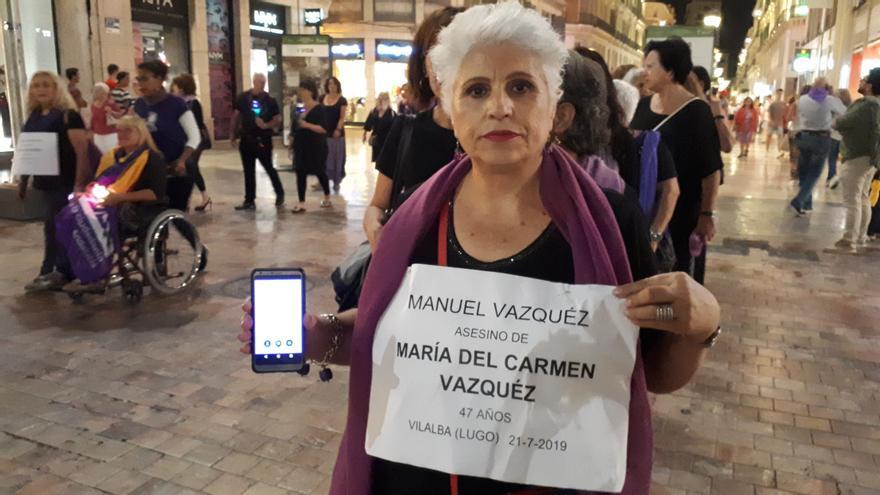 Joaquina Espejo, en la manifestación de este viernes   N.C.