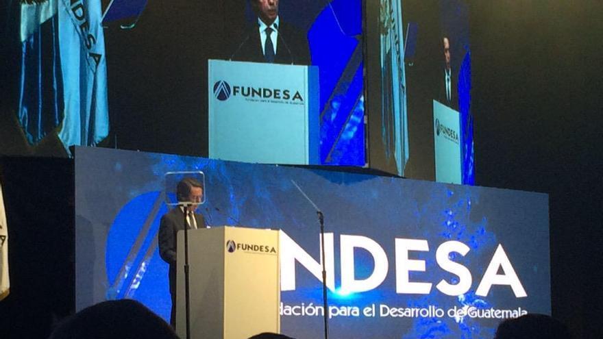 José María Aznar, durante su intervención en ENADE en Guatemala. / Foto: Twitter FUNDESA