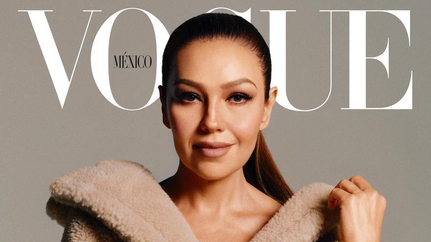 """Thalía cumple con su sueño de protagonizar una portada de """"Vogue"""""""