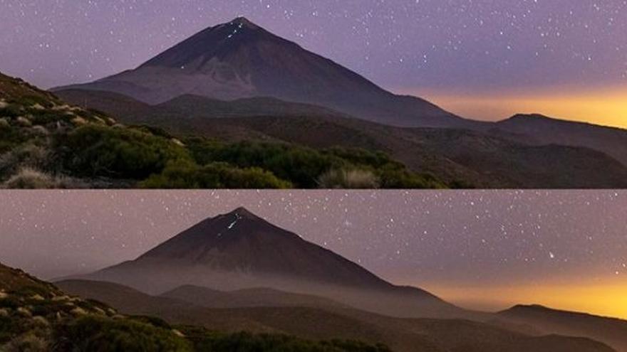 El paso de la calima deja estas imágenes en el Teide.