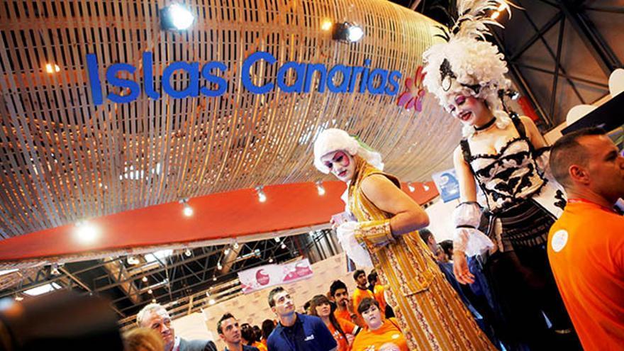 Imagen de archivo del stand de Canarias durante una edición de Fitur.