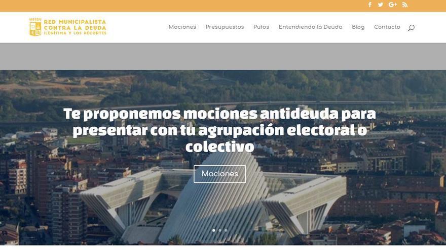 Captura de la web Red Municipalista