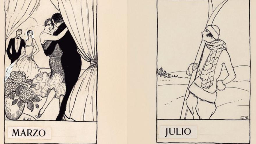 'En la noche de San Silvestre. Almanaque de la vida breve', 3ª Blanco y Negro, núm. 1.807 3 de enero de 1926 Collage de tinta y gouache sobre dos papeles