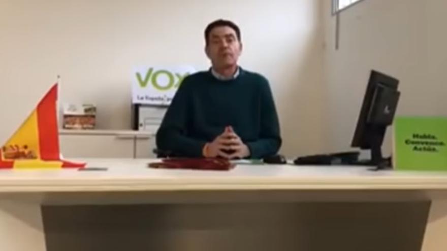Ortiz Cambray, en el vídeo donde se presentaba como presidente de Vox en Lleida