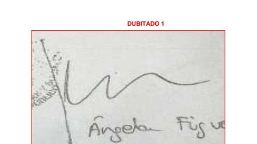 La firma de Águela Figueruelo en el informe pericial encargado por eldiario.es.