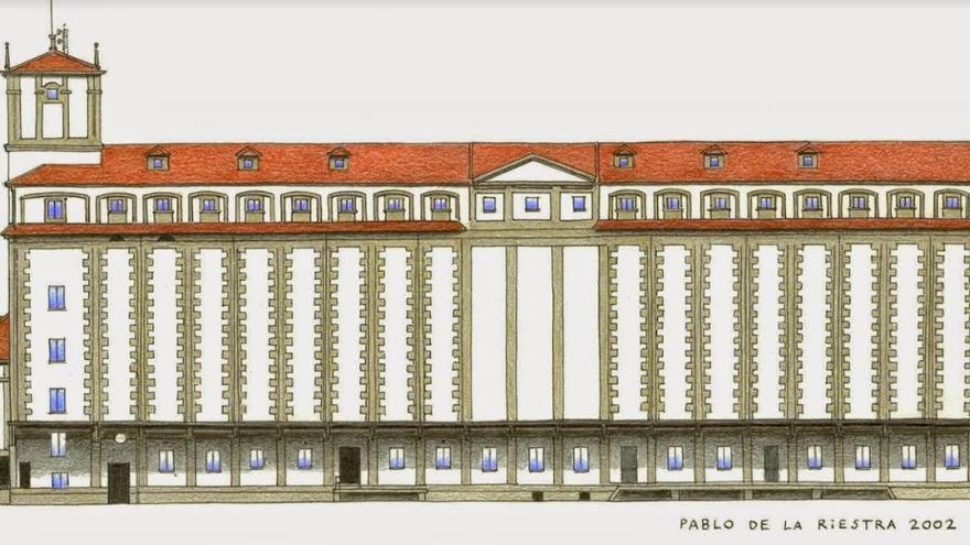 Dibujo del silo