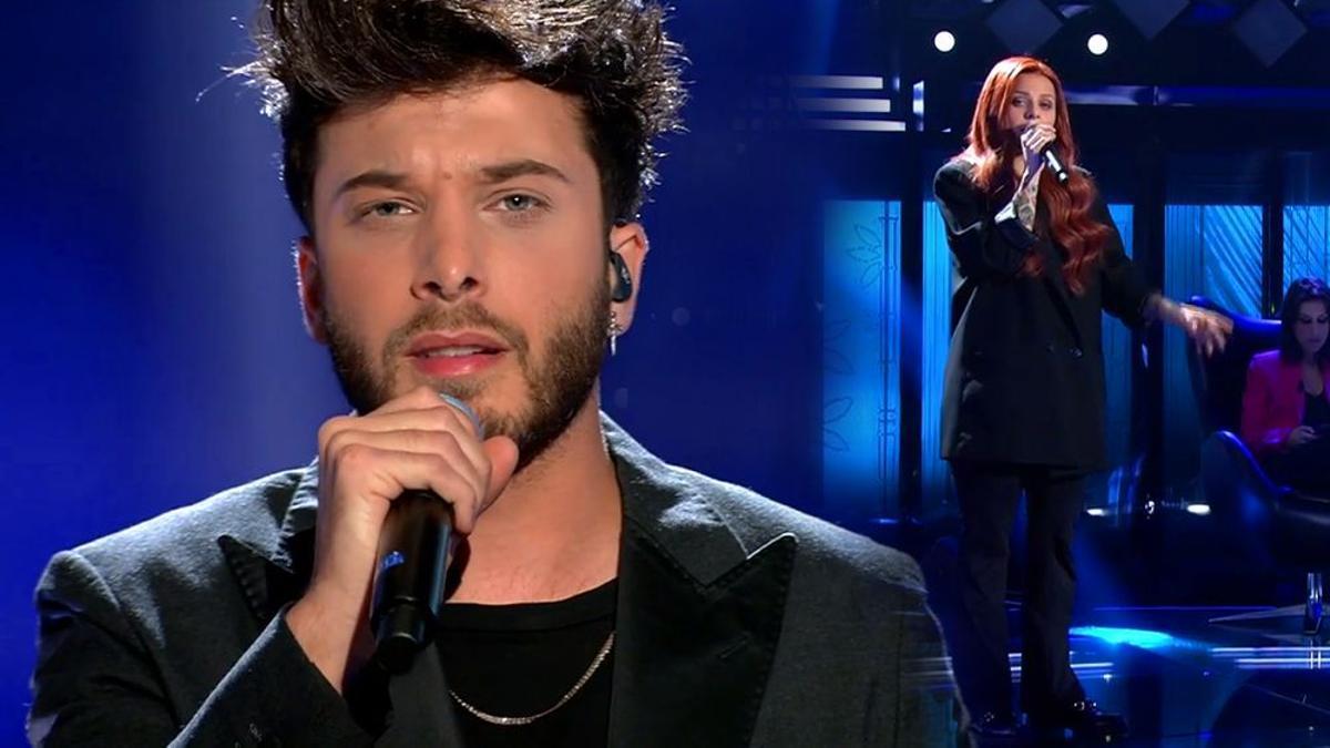 Blas Cantó y Victoria George en sus actuaciones en Telecinco