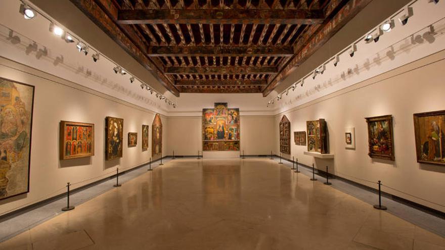 Artesonado de la sala Várez Fisa en El Prado