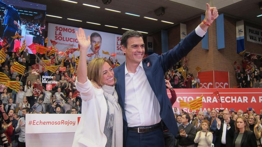 """Chacón (PSC) contrapone el """"cambio con seguridad"""" que ofrece el PSOE frente a Podemos"""