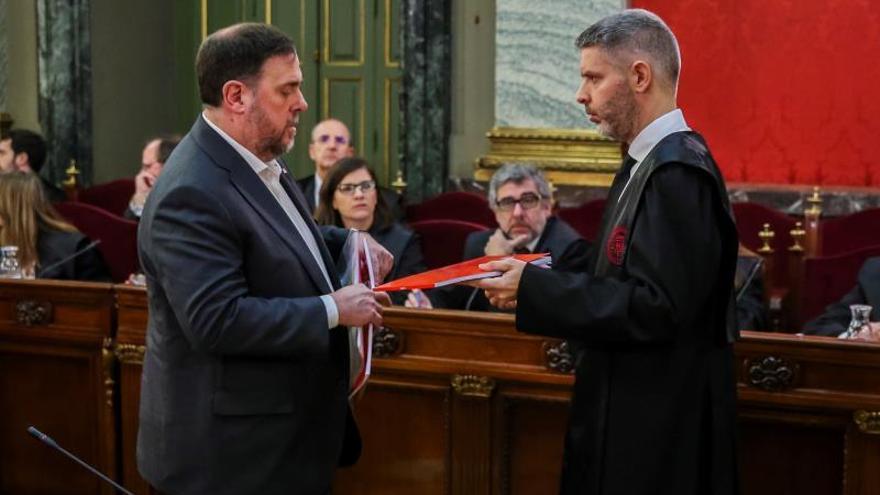 Junqueras y su abogado, Andreu Van den Eynde