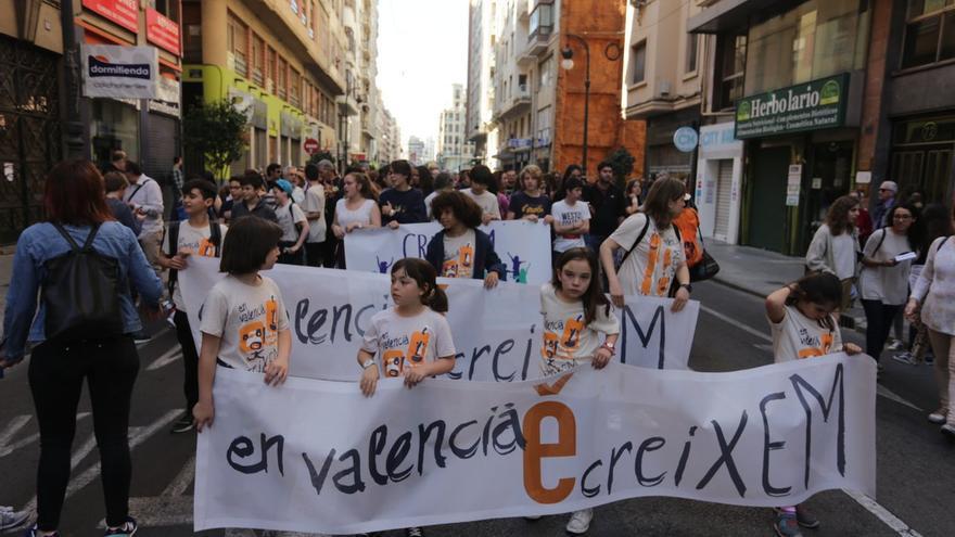 Un moment de la Trobada d'Escoles en Valencià celebrada aquest diumenge a València