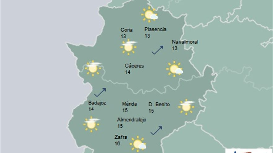 mapa Extremadura Nochebuena