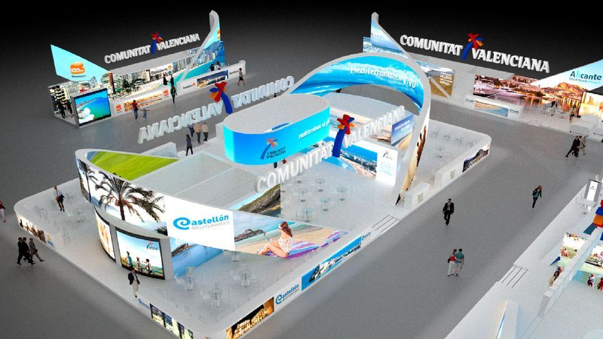El stand que la Comunitat Valenciana montará en la edición de Fitur de 2018
