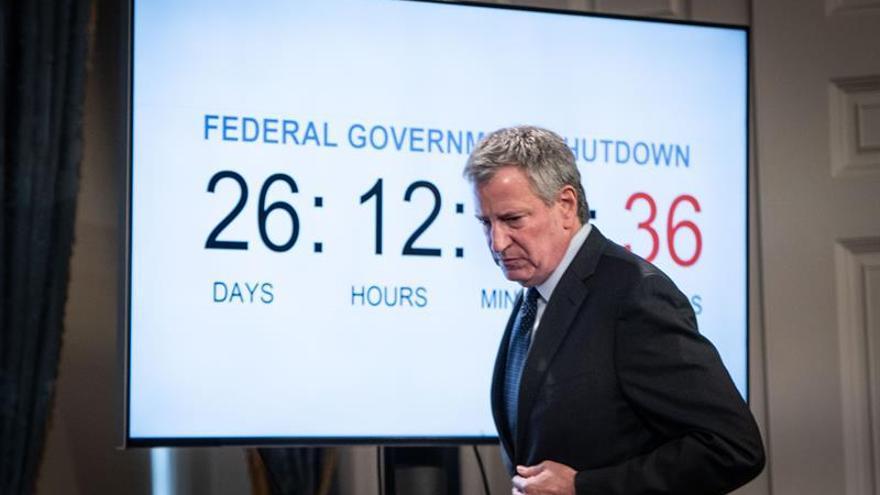 """El alcalde de Nueva York pide prepararse """"para lo peor"""" ante el cierre del Gobierno"""