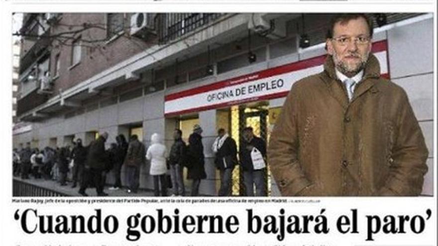 """Rajoy: """"Cuando gobierne bajará el paro"""""""