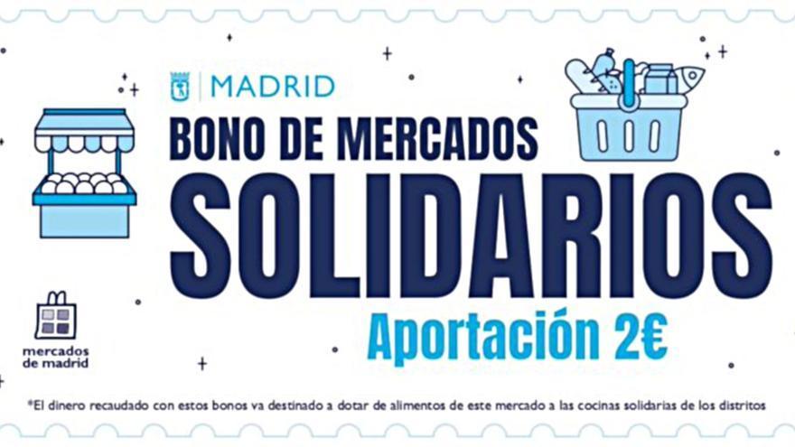 Bono Mercados Solidarios   Imagen: AYUNTAMIENTO DE MADRID
