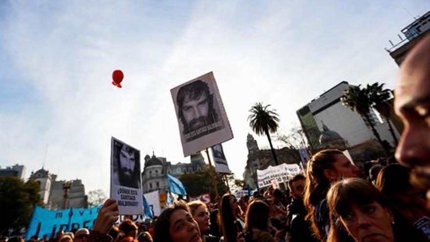 Manifestación por la desaparición de un activista indígena