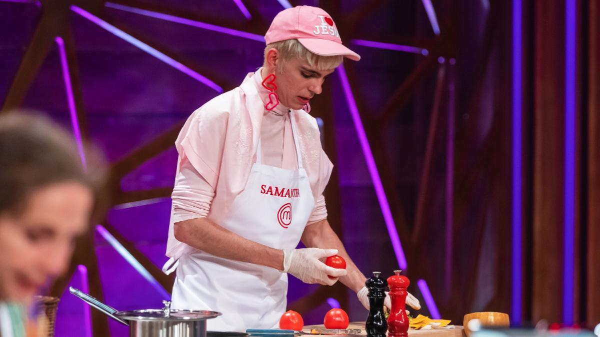 Samantha Hudson, cocinando en 'MasterChef Celebrity'