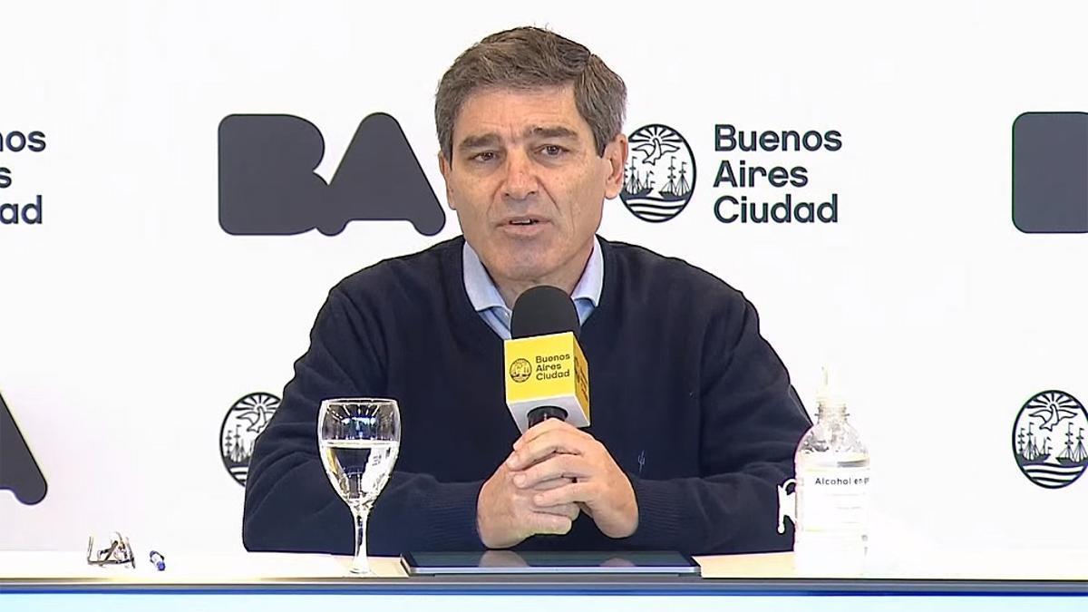 El ministro de Salud porteño brindó un nuevo reporte epidemiológico de la Ciudad de Buenos Aires.