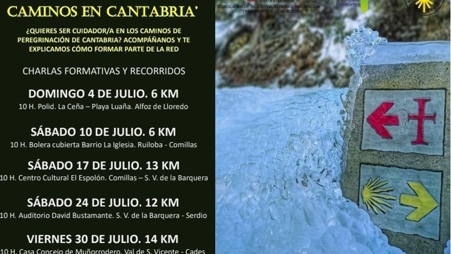 Cartel jornadas formativas del proyecto Cuidadores de los Caminos.