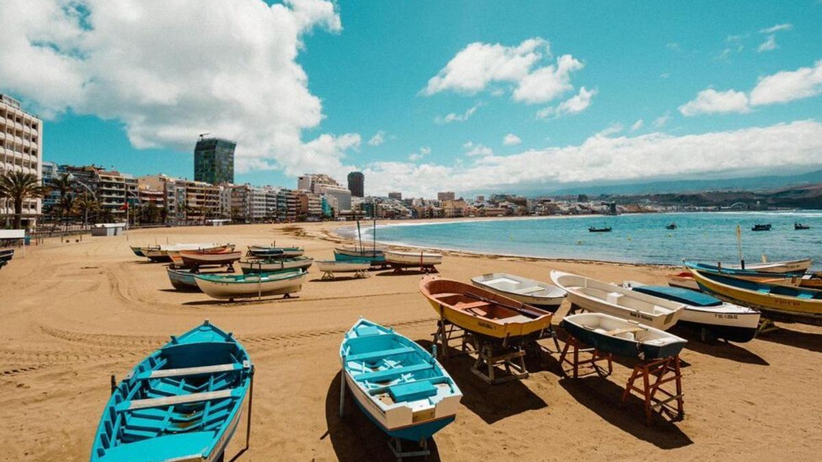 La playa de las Canteras.