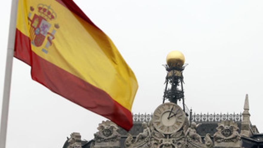 Recurso de bandera con el Banco de España