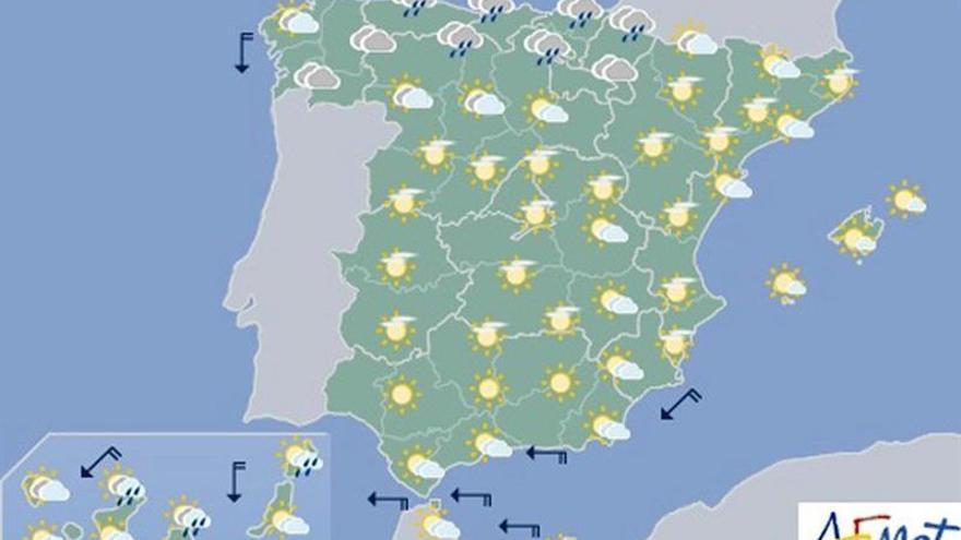 Las temperaturas bajan hoy en el tercio norte peninsular