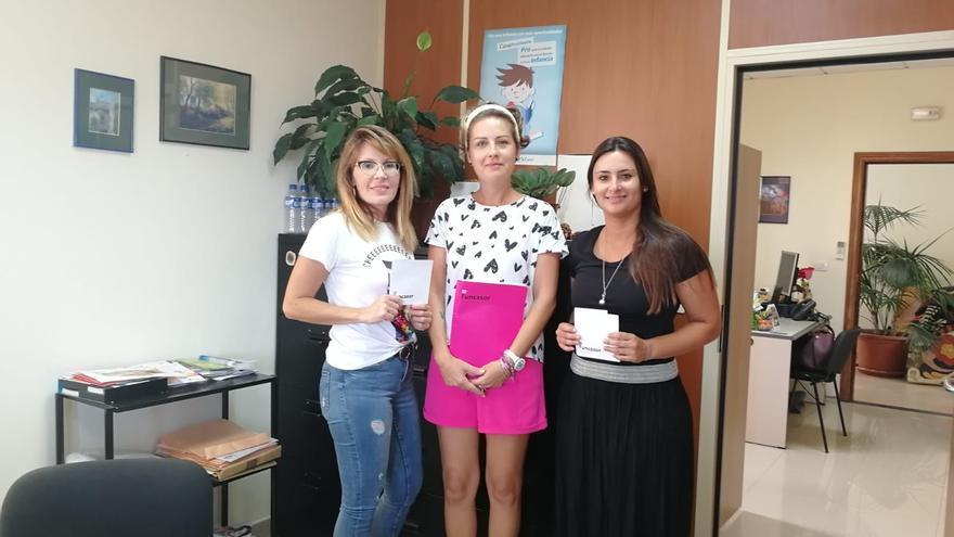 Reunión de representantes del Ayuntamiento Tijarafe y  la Fundación Canaria para las Personas con Sordera y su Familia (Funcasor),