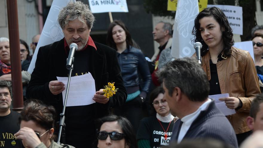 Manuel Rivas leyó el manifiesto final de la marcha