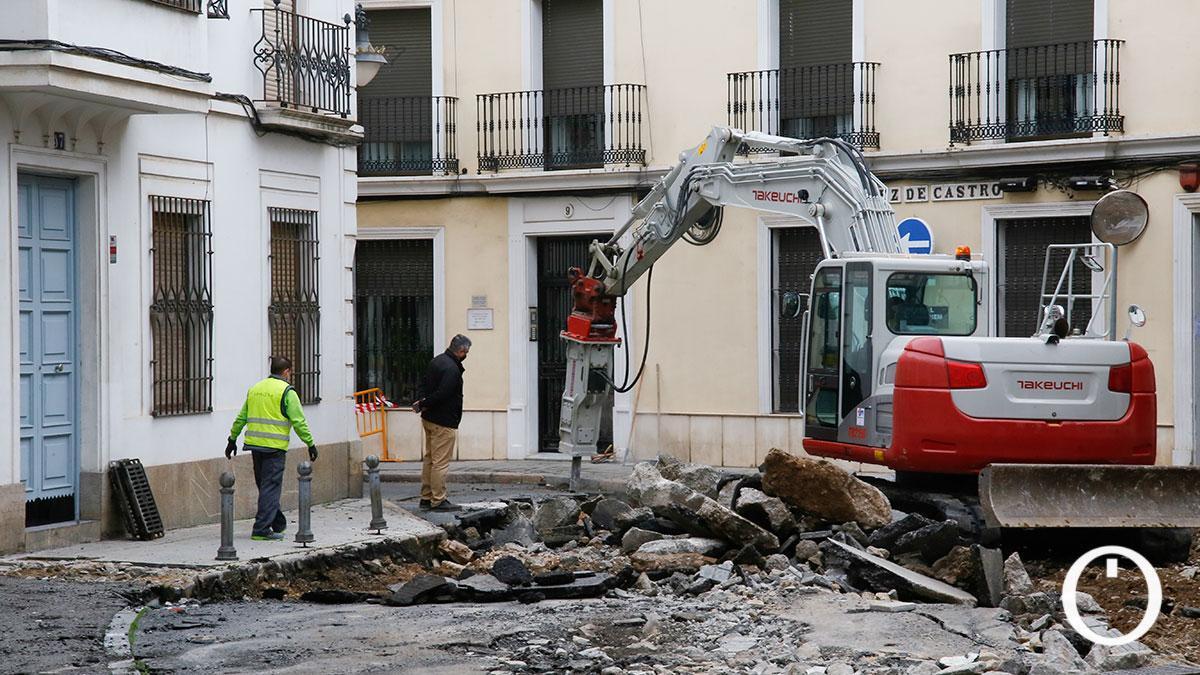Obras en la calle Duque de Fernán Nuñez.