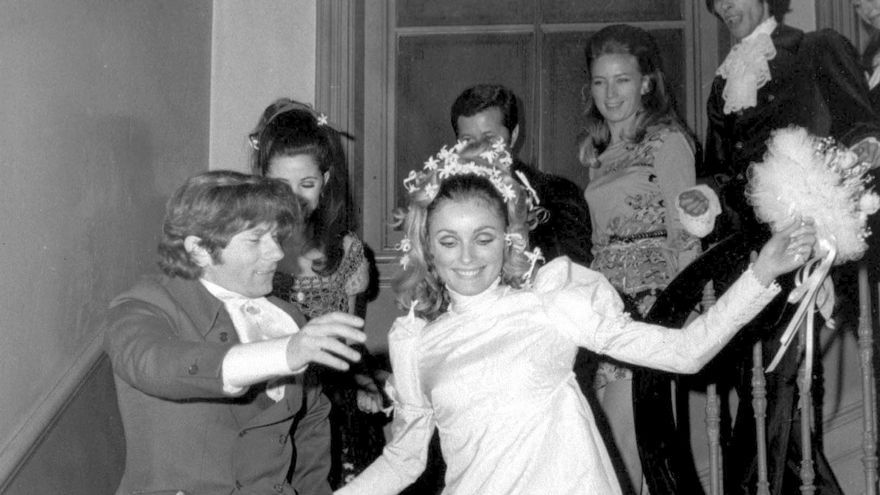 Boda de la actriz Sharon Tate y Roman Polanski en enero de 1968