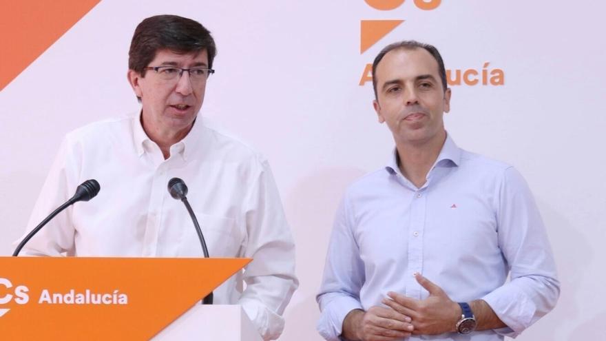 """Marín insiste en que el millón exento en sucesiones es """"inamovible"""" y que el acuerdo presupuestario depende del PSOE-A"""