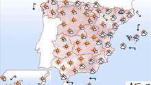 Mañana, chubascos localmente fuertes en Baleares