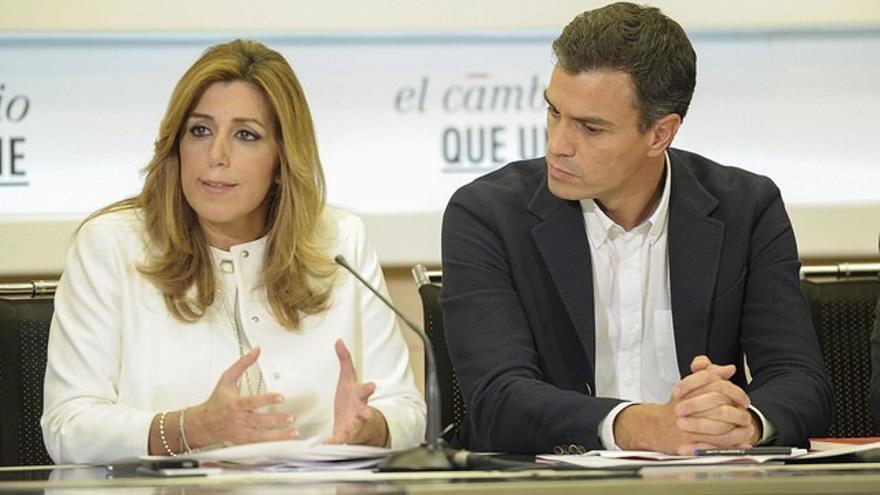 Susana Díaz y Pedro Sánchez en una imagen de archivo