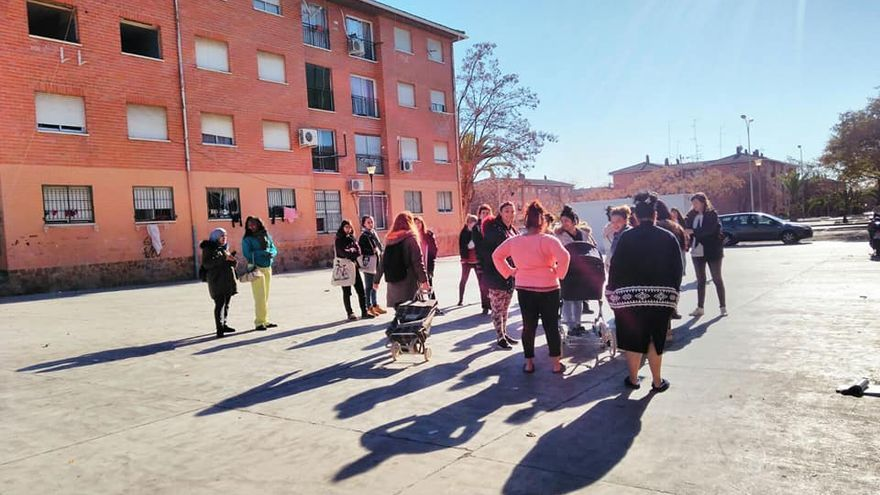 Un grupo de vecinas del barrio de La Coma