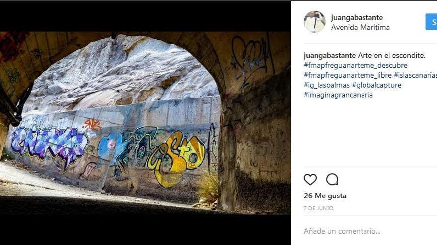 La imagen Arte en el escondite captada por Juanga Bastante fue la ganadora en la categoría de fotografías en Instagram.