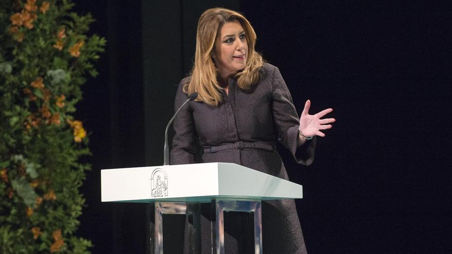 Susana Díaz el 28F de 2018.